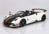 Pagani Huayra Roadster BC Metallic Pearl White in 1:18 scale by BBR