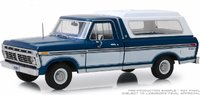 1975 Ford F-100 Midnight Blue Poly in 1:18 Scale by Greenlight