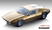 1971 De Tomaso Mangusta Metallic Gold in 1:18 Scale by Tecnomodel