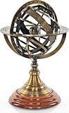 Armillary Sphere on wood base by Old Modern Handicrafts