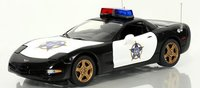 1999 Corvette Police Car Diecast Model in 1:24 Scale