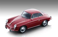 1961 Porsche 356 Karmann Hardtop Gloss Red in 1:18 Scale by Tecnomodel