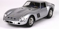 1962 Ferrari 250 GTO in Red Fine Resin Model in Silver 1:18 Scale by BBR