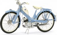 NSU Quickly in Blue Diecast Model Motorcycle in 1:10 Scale by Schuco