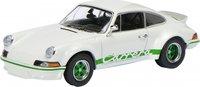 Porsche 911 RS 2.7 - White/Green Diecast Model in 1:43 Scale by Schuco