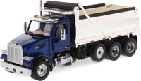 Peterbilt 567 Blue Dump Truck with Chromed Dump Body in 1:50 scale by Diecast Masters