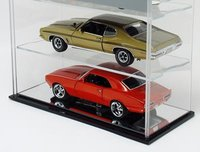 4 Diecast Scale Car Case - Mirror Back Display Case by NCaseIt
