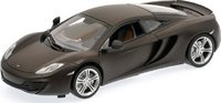 McLAREN MP4-12C in MATT BLACK  Diecast Model Car in 1:18 Scale by Minichamps