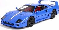 1992 Ferrari F40 in Blue with Italian Flag LTD ED 24 PCS in 1:18 Scale by BBR
