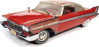 Christine 1958 Plymouth Fury Partially Restored in 1:18 Scale by Auto World