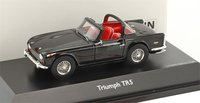 Triumph TR5 Open Surrey Top in Black Resin Model in 1:43 Scale by Schuco