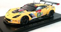 Chevrolet Corvette C7.R #64 24H Le Mans 2018 in 1:43 Scale by Spark