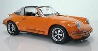 2014 PORSCHE 911 SINGER TARGA orange in 1:18 scale by KK Diecast