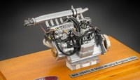 Mercedes-Benz 300 SLR Engine in a Showcase Diecast Model by CMC in 1:18 Scale