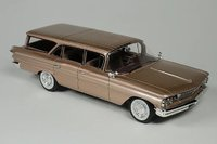 1960 Pontiac Safari Color Sierra Copper Poly in 1:43 Scale by Goldvarg Collection