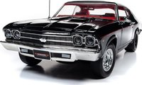 1969 Chevy Chevelle SS396 Black Diecast in 1:18 Scale by Auto World