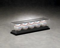 B-3039 - 5 Ball Baseball Display Case: Black Base