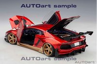 Lamborghini Aventador Liberty Walk LB-Works in red w/gold 1:18 by AUTOart Diecast Model
