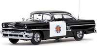 1956 Mercury MontClair Hard Top - Police Black/White Diecast Model Car in 1:18 Scale by Sun Star