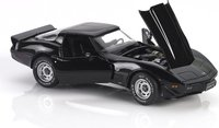1979 Corvette Diecast Model Car in Black in 1:24 Scale