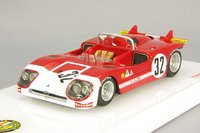 1971 Alfa Romeo Tipo 33/3 #32 Sebring 12 Hr 3rd Place H. Pescarolo Model Car in 1:43 Scale by Truescale Miniatures