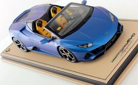 Lamborghini Huracan EVO Spyder Blu Aegeus 1:18 Scale by MR Collection