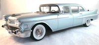 1958 Cadillac Fleetwood 75 Limousine in Light Blue 1:18 Scale by BoS Models