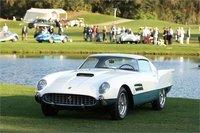1956 Ferrari 410 Super Fast in White and Green in 1:18 Scale by Tecnomodel