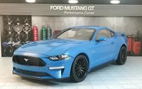 2019 Ford Mustang GT in grabber blue by Diecast Masters in 1:18 Scale