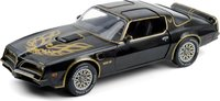 1977 Pontiac Firebird Trans Am - Starlite Black w Golden Eagle Hood in 1:18 Scale by Greenlight