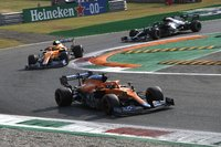 McLaren MCL35M No.3 + No.4 Winner Italian GP 2021 + 2nd Italian GP 2021 in 1:43 scale by Spark
