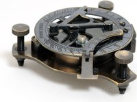 Sundial Compass in wood box (Small) by Old Modern Handicrafts
