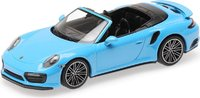 2017 Porsche 911 (991.2) Turbo S Cabriolet in Blue in 1:43 Scale by Minichamps
