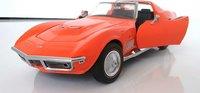 1969 Corvette Coupe Monaco Orange in 1:24 scale by Franklin Mint