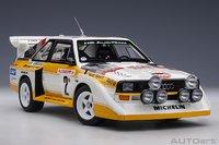1986 AUDI QUATTRO S1 Rally Monte Carlo #2 in 1:18 Scale by Autoart