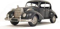 1937 Plymouth P4 Deluxe Black Metal Model Car in 1:8 Scale by Old Modern Handicrafts