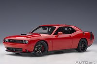 2018 Dodge Challenger R/T Scat Pack in Red 1:18 Scale by AUTOart