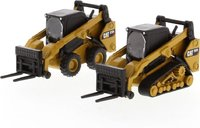 Cat® 272D2 Skid Steer Loader & Cat® 297D2 Compact Track Loader in 1:64 scale by Diecast Masters