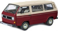 VW T3a Bus Red/white in 1:18 by Schuco