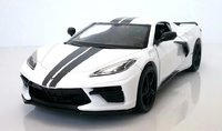 2020 Corvette C8 Stingray Coupe in white in 1:24 scale by Motor Max