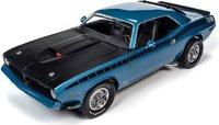 1970 Plymouth AAR 'Cuda 340 Blue Fire Metallic in 1:18 Scale by Auto World