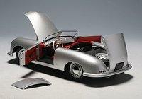 PORSCHE 356 in SILVER Model Car in 1:18 Scale by AUTOart