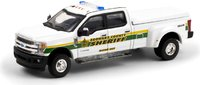 2018 Ford F-350 Lariat Broward County, Florida Sheriff Marine Unit in 1:64 scale by Greenlight