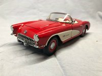 1957 Corvette in Venetian Red Diecast Model Car in 1:24 Scale by the Franklin Mint