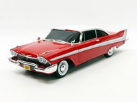 "1958 Plymouth Fury red ""Christine: in 1:18 scale by Auto World"