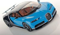 Bugatti Chiron w Open Wing French Racing Blue by MR Collection in 1:18 Scale