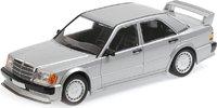 Mercedes 190E 2.5 16 EVO 1 Silver in 1:18 Scale by Minichamps