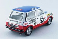 1978 AUTOBIANCHI A112 ABARTH  #53 Monte Carlo Test Diecast Model Car in 1:43 Scale by Best Model