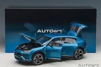 Lamborghini Urus in Blue in 1:18 Scale by AUTOart