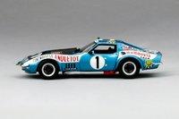 Chevrolet Corvette #1 1971 Le Mans 24 Hrs Ecurie Leopard Model Car in 1:43 Scale by Truescale Miniatures